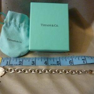 "Tiffany Oval Tag Bracelet Mint Cond 7.5"" 26.7grams"